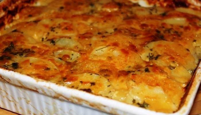 рецепт запеченная картошка с мясом и сыром в духовке рецепт с фото