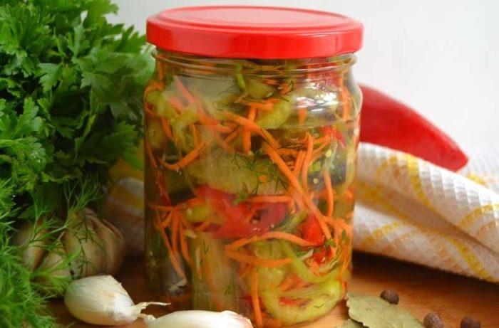фото к рецепту баклажан по-корейски с морковью и перцем на зиму