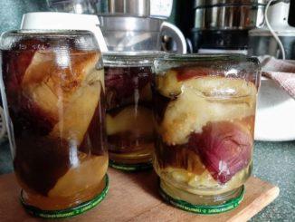 фото к рецепту баклажанов в масляном маринаде