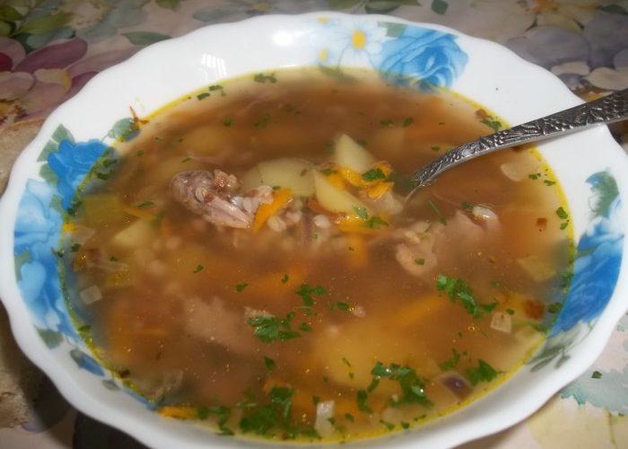 Гречневый суп с говядиной фото