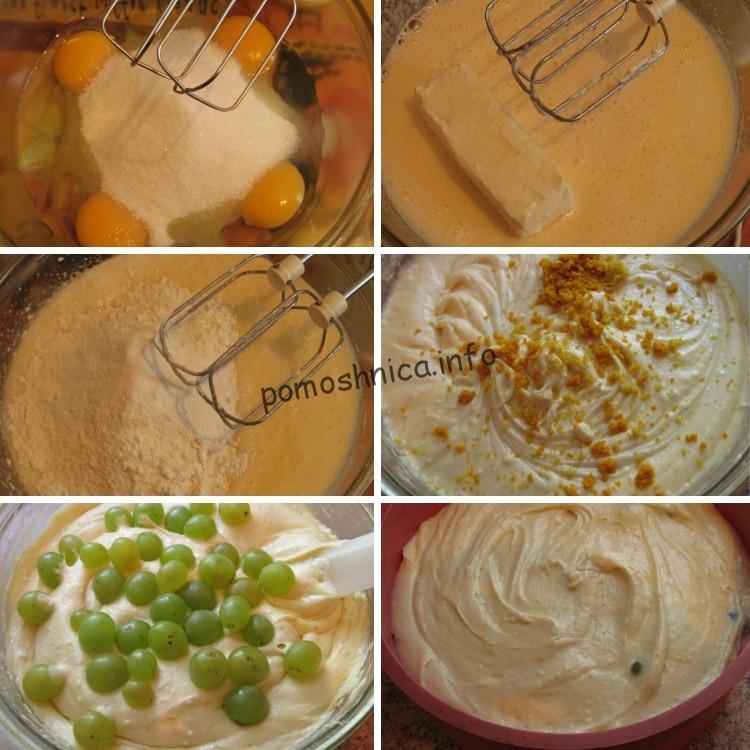 приготовление пирога с виноградом по рецепту Джейми Оливера