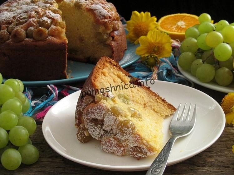 фото к рецепту виноградного пирога