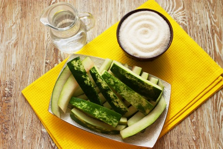 Ингредиенты для арбузных цукатов