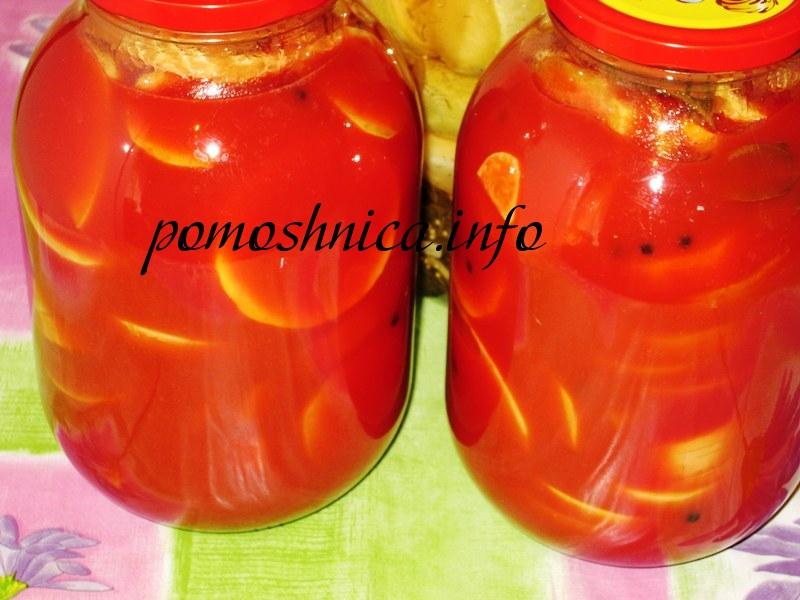 Кабачки в томатном соке на зиму фото