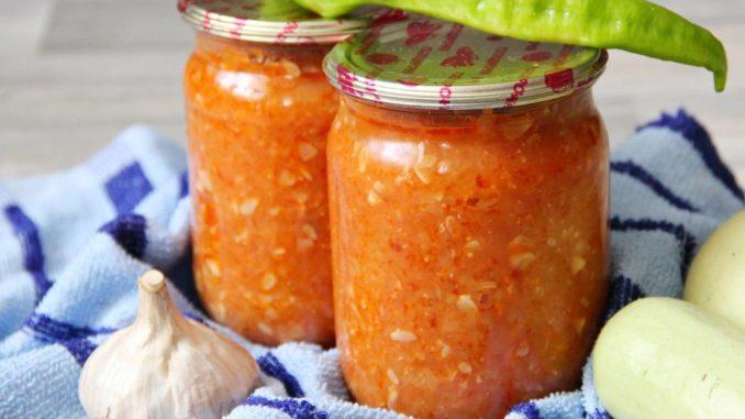 фото к рецепту кабачковой икрі с помидорами