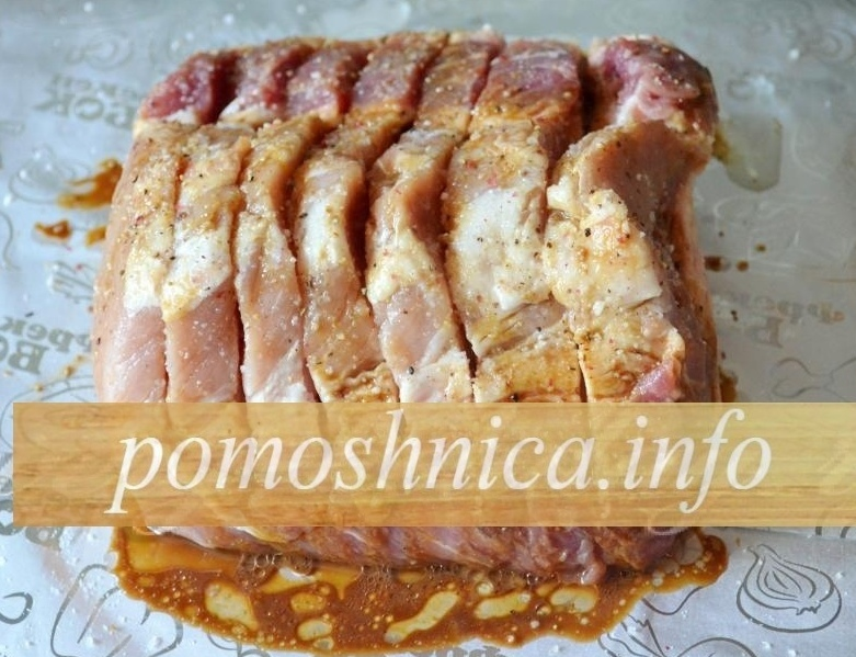 Маринование свинины гармошки перед запеканием фото