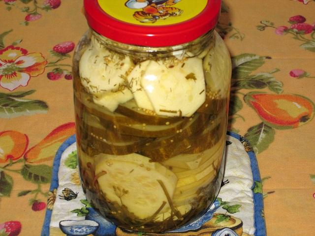 Огурцы с кабачками на зиму рецепт