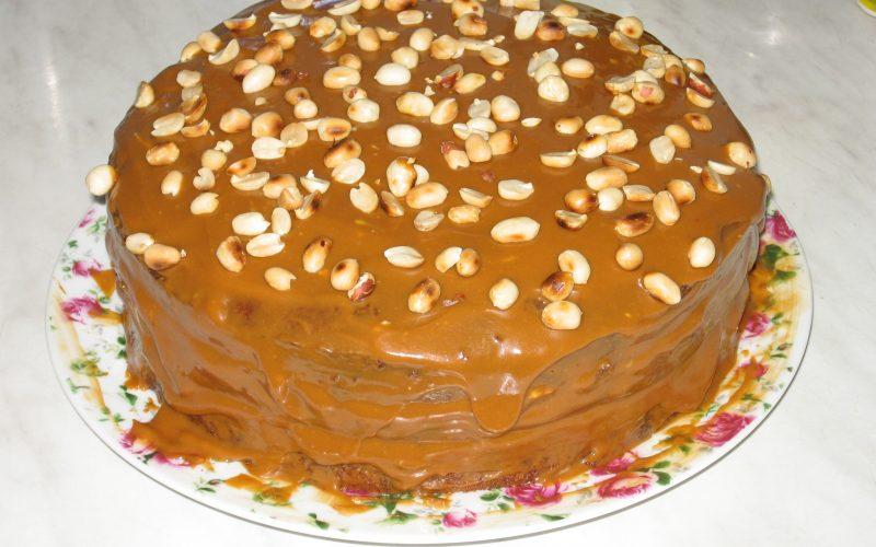 Ореховый торт со сгущенкой фото