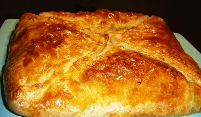 Рецепт пирога с фаршем и тыквой
