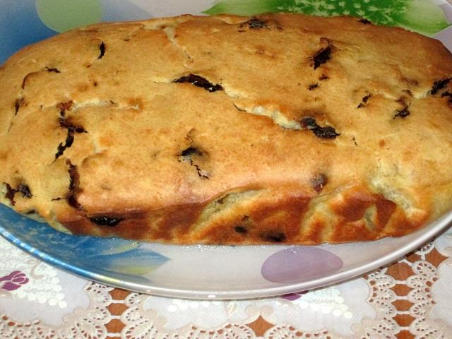 Пирог с финиками