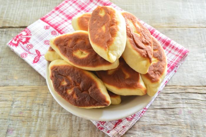 Пирожки с капустой жареные фото
