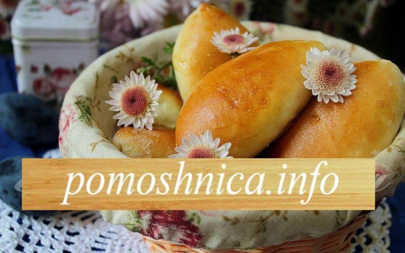 Пирожки творожные со сливами фото