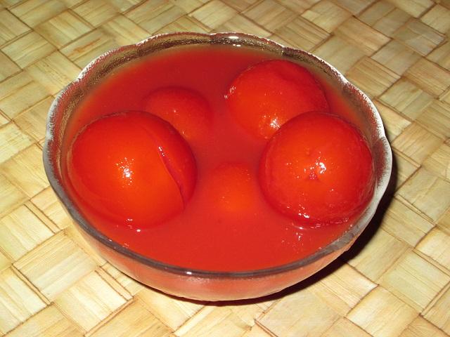 Помидоры, консервированные в томатном соке