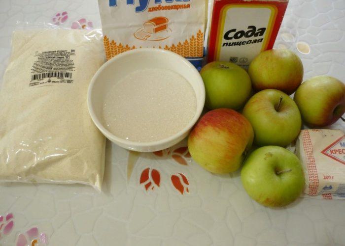 фото ингредиентов для приготовления венгерского яблочного пирога