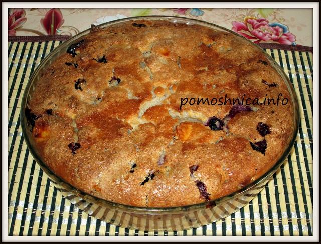 Яблочно-смородиновый пирог фотография готового изделия
