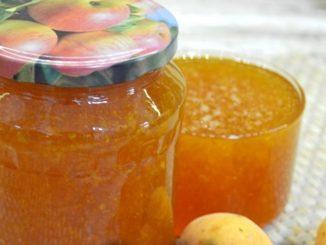 фото к рецепту джема из абрикосо и персиков