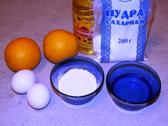 ингредиенты для апельсинов в кляре