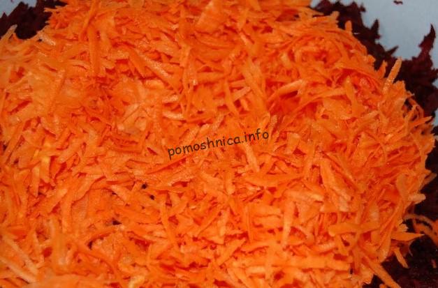 фото тертой моркови для приготовления борщевой заправки