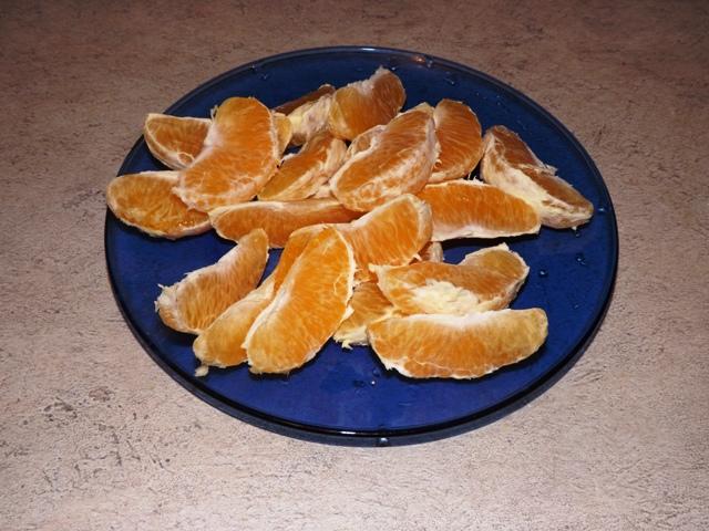 дольки апельсина для обжаривания