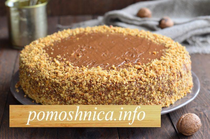 готовый вафельный торт со сгущенкой фото