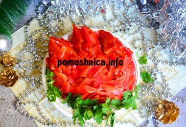 Красивый и вкусный салат из курицы с фасолью и сладким перцем