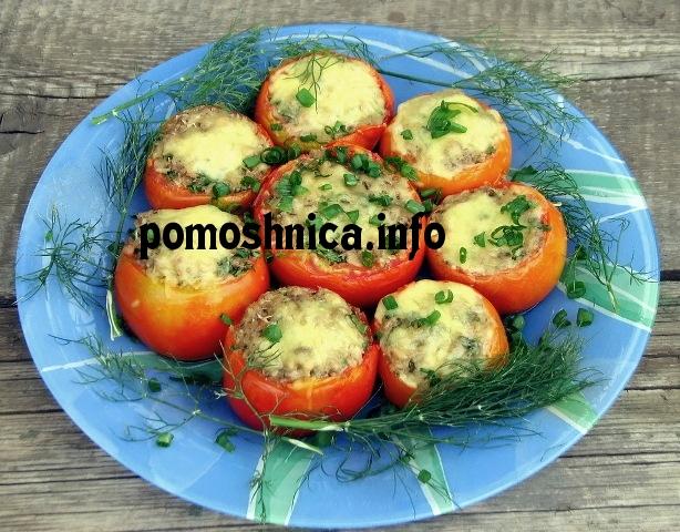 Помидоры фаршированные сыром и чесноком рецепт пошагово