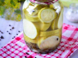 фото к рецепту маринованных кабачков без стерилизации