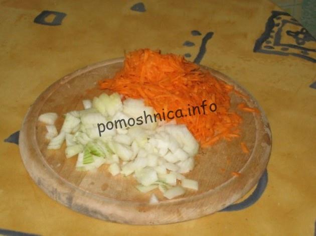 овощи для приготовления супа с консервой килька в томате