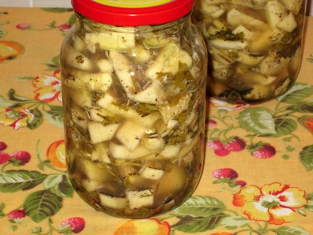кабачки консервированные с чесноком