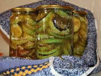 фото к рецепту жареных кабачков в банках на зиму