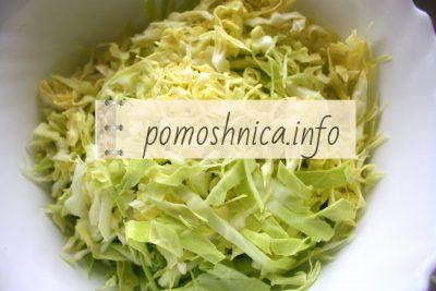 нарезка белокочанной капусты на салат фото
