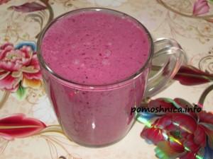 рецепт кефирно-ягодного коктейля с фото