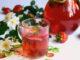фото к рецепту клубнично-мятного компота на зиму