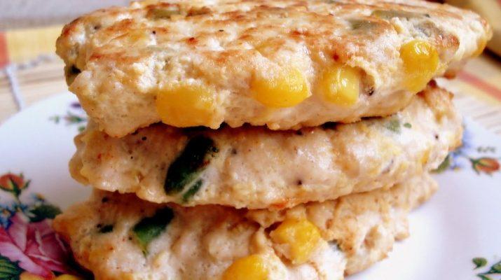 куриные котлеты с кукурузой рецепт