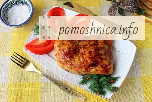 курица с чесноком в духовке фото к рецепту
