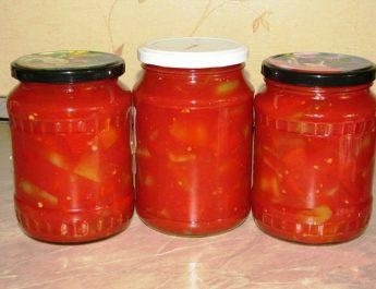 Лечо из зеленых помидоров на зиму, простое и вкусное