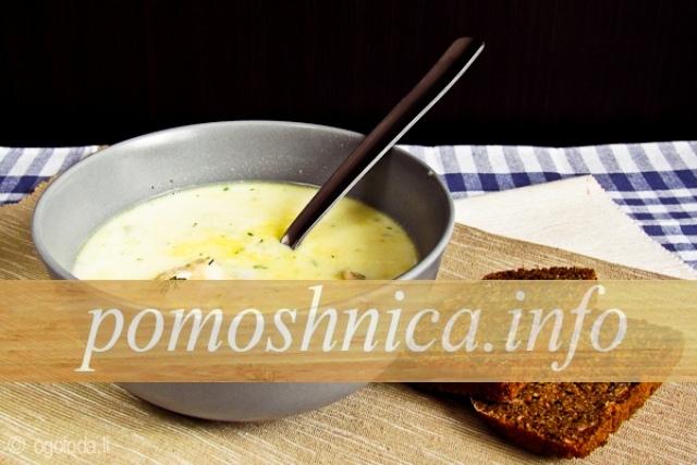 фото молочного супа с рисом в мультиварке