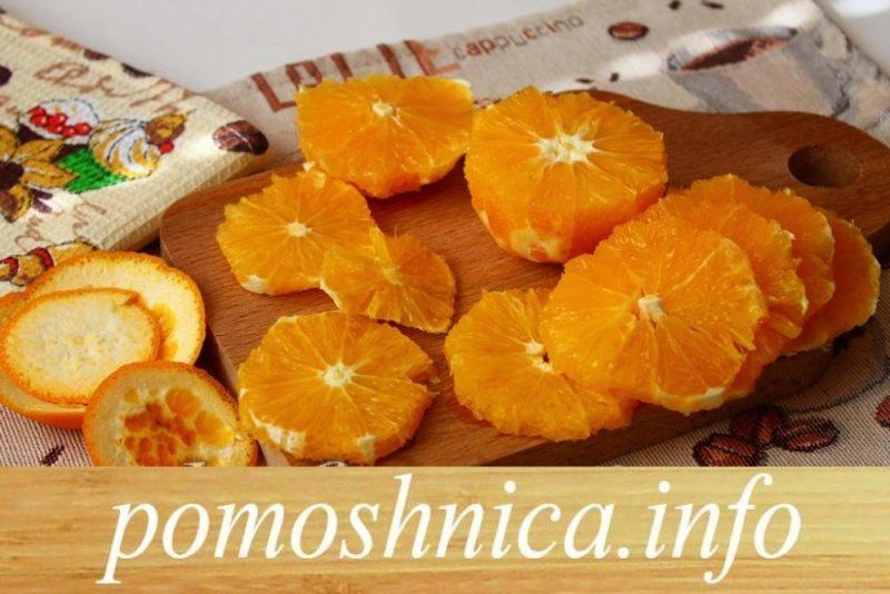 нарезка апельсинов для пирога фото