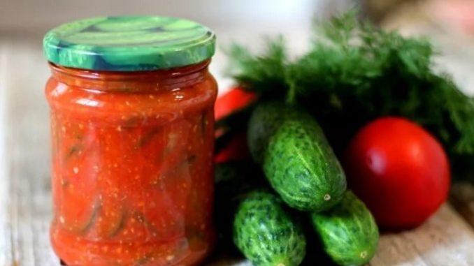 фото к рецепту огурцов в томате на зиму
