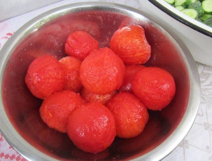 фото очищенных помидор для приготовления заливки