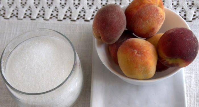 фото ингредиентов для пряного персикового джема