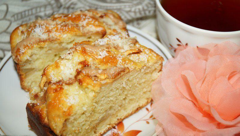 пирог из яблок и овсянки фото