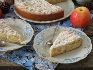 пирог с яблоками и заварным кремом по-польски