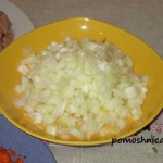 фото к рецепту плов с курицей нарезка лука