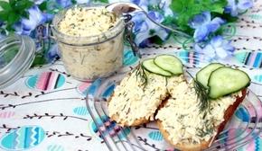 праздничные бутерброды с плавленым сыром и тунцом фото