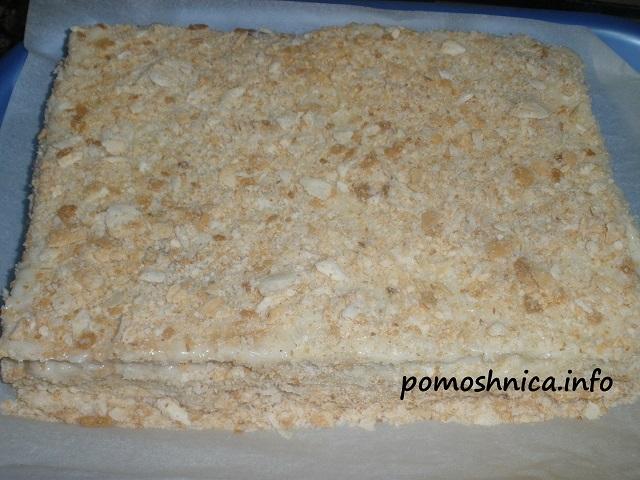 торт наполеон из готового теста