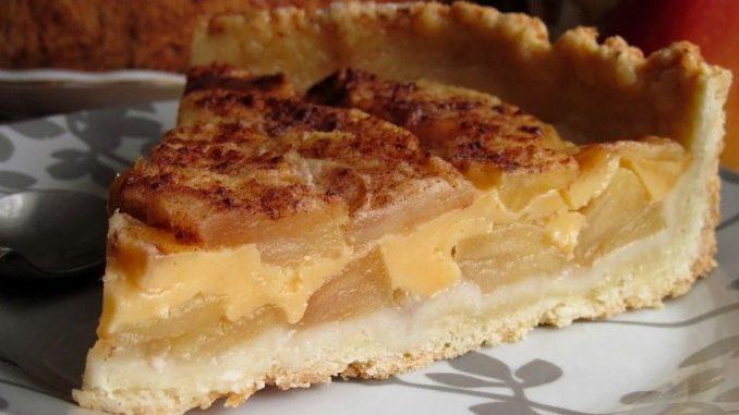 яблочный пирог с сыром