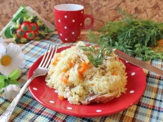 фото к рецепту риса с курицей в пароварке