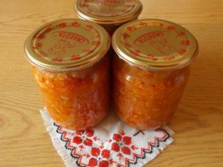 фото к рецепту салата из риса с овощами на зиму