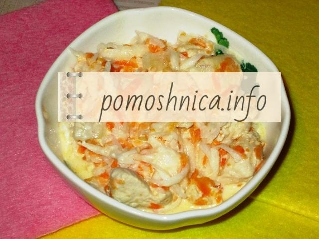 салат из редьки с морковью и курицей фото к рецепту